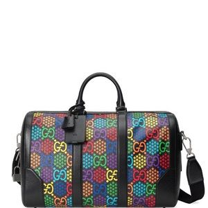 Gucci Black Rainbow Psychedelic Carry On Duffle